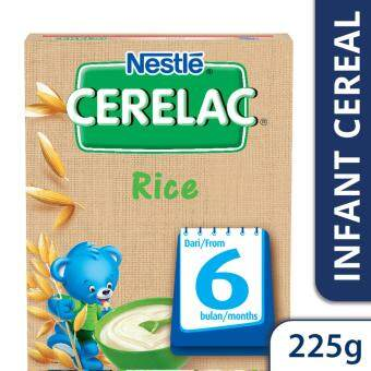 NESTLE CERELAC Rice Infant Cereal Box Pack (1 Pack of 225g)