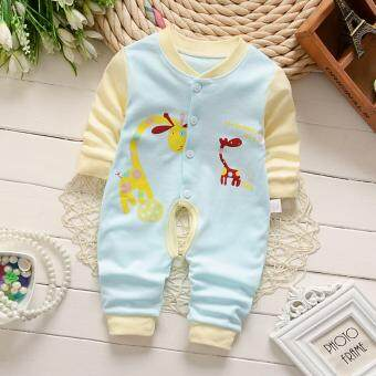 Newborn Cotton Baby Boys Girls Giraffe Clothes Baby Rompers Long Sleeve Body Suits Jumpsuits