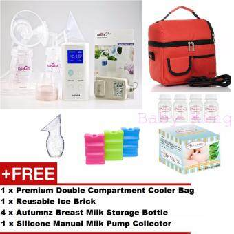 Original Spectra 9 Plus Portable Electric Breast Pump (Double) + FREE GIFTS