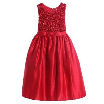 Pettigirl Toddler Party Dress Red Sequins Sash Baby