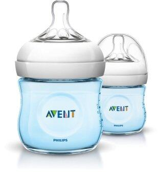 Philips Avent Bottle Natural 4oz /125 ml (Blue) - Twin Pack