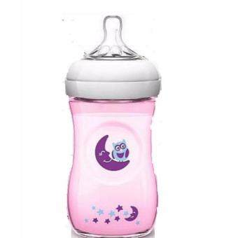 Philips Avent Natural 260ml Pink owl Deco Special Edition Bottle(loose 1 bottle)