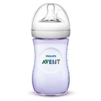 Philips AVENT Natural Bottle 260ml/9oz loose pack -Purple(1 bottle)