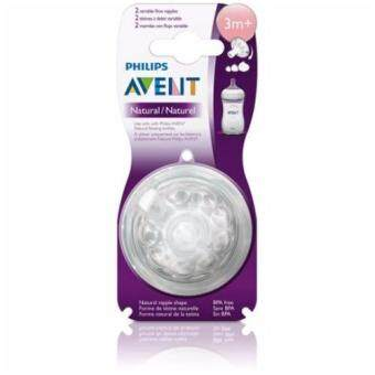 Phillips Avent Natural Teats Variable Flow 3m+ (2's)