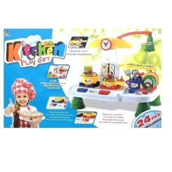 Pretend play kids kitchen with music and light play set for Kitchen set video song