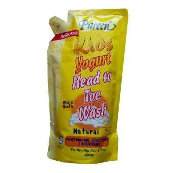 Pureen Kids Yogurt Head To Toe Wash (Natural) 600ml refill pack