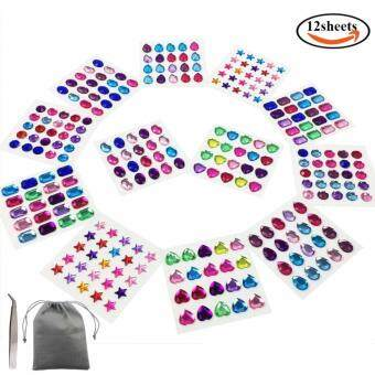 Self-adhesive Rhinestone Sticker Bing Craft Jewels Crystal GemStickers 10-14mm