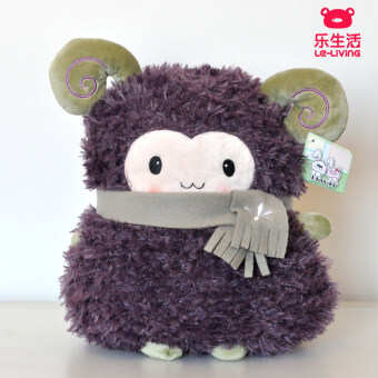 Sheep sheep cute waist Christmas's day girls pillow doll pillow