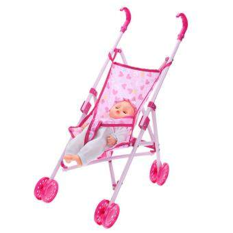 Special Promotion Dolls Buggy Stroller Pushchair Pram FoldableGirls Toy Doll Pram Baby Doll