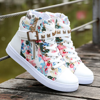 Spring and Autumn New style girls canvas shoes high-top big boycasual shoes Korean-style small girl student shoes children flatshoes