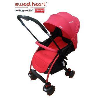 Sweet Heart Paris ST6605 Parent-Facing Stroller (Red)