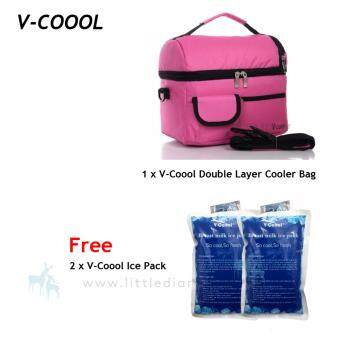 V-Coool 2 layer Cooler Bag Free 2 V-Coool Ice Pack