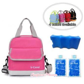 V-Coool Double Deck Cooler Bag Ice Brick Combo