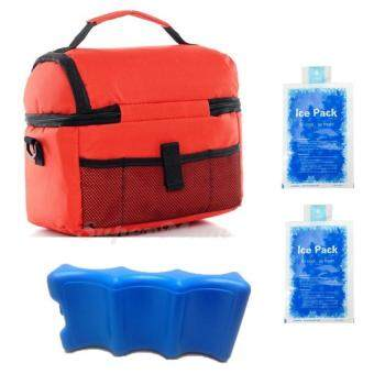 V-Coool Double Layer Cooler Bag Ice Brick Combo