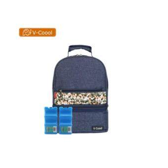V-COOOL Removable Cooler Backpack / Cold & Warm / Ice Brick /Denim