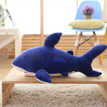 White Shark large three-color whale VISHARK doll pillow