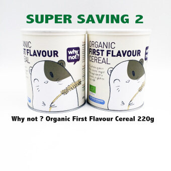 WHY NOT ? ORGANIC FIRST FLAVOUR CEREAL 220G - TWINPACK