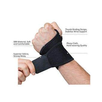 XYS COLLECTION Reversible Sports Wrist Brace, Fitted Right / Left Thumb Stabilizer, Wrist Support Wrap for Badminton Tennis Weightlifting, Black