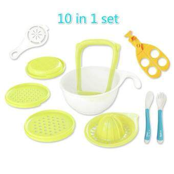 YAER Baby Food Mill Grinding Bowl Grinder Processor MultifunctionMash Prep Serving DIY Homemade 10 in 1 Set