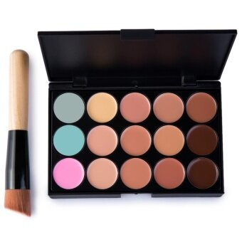 15 Colors Contour Face Cream Makeup Concealer Palette withMakeupBrush