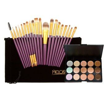 15 Colors Contour Face Cream Makeup Concealer Palette+20Pcs BrushesSet
