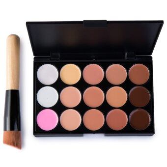 15 Colors Makeup Concealer Palette + A Makeup Brus Contour FaceCream
