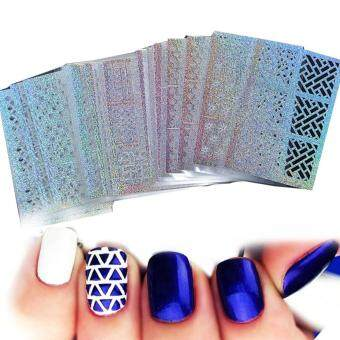 1Set DIY Nail Vinyls 24 syles Hollow Irregular Stencils Stamp Nail Art DIY Manicure Sticker Laser