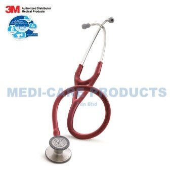 3M Littmann Cardiology III Stethoscope, 27 inch, #3129 (Burgundy Tube, Standard-Finish Chestpiece, Stainless Stem & Eartubes)