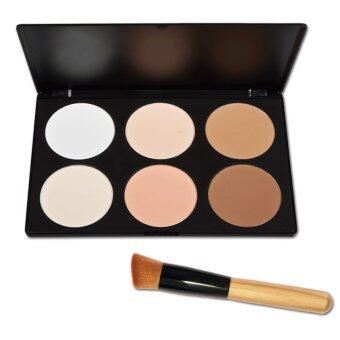 6 Colors Make Up Cosmetic Makeup Foundation Face Contour Palette and 1pc Makeup Brush Kit
