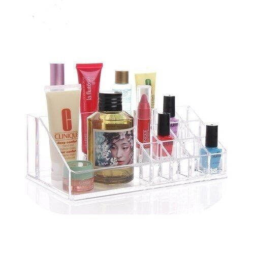 Clear Acrylic 24 Lipstick Holder Display Stand Cosmetic