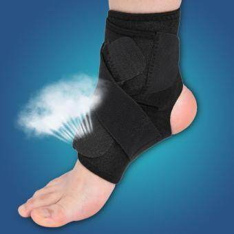 Adjustable Breathable Ankle Support Brace Foot Sprain Injury Pain Wrap Strap Protector Black