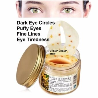 BIOAQUA 80 pcs Eye Skin Care Golden Osmanthus Collagen Eye Mask Anti-Puffiness Dark Circle Moisturizing Eyemask Eye Care