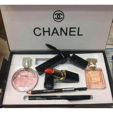 chanel 5 gift set. chanel gift set 5 in 1 with chance 15ml perfume coco madmosile mascara i