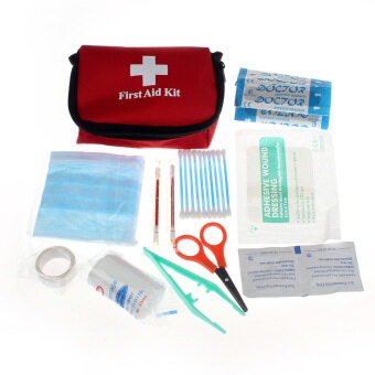 Emergency Survival First Aid Kit Pack Travel Medical Sports HomeBag (Red)