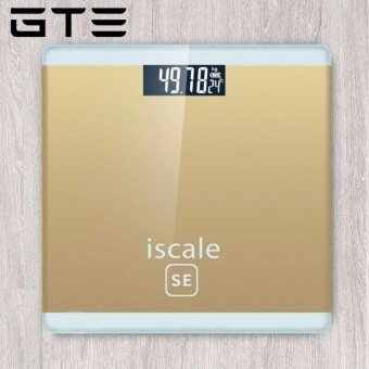 GTE Iscale SE Weighing Machine Body Weight Measuring Electronic Digital Scale 180KG With LCD Display - Gold