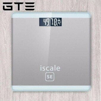 GTE Iscale SE Weighing Machine Body Weight Measuring Electronic Digital Scale 180KG With LCD Display - Silver