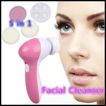 Hot! Deep Clean 5 In 1 Electric Facial Cleaner Beauty Face Skin Care Brush Spa Whitening Exfoliating Massager Cleanser Waterproof Spin Body Cleansing Facial Pore Cleaner