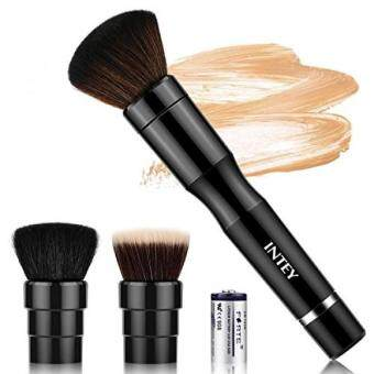 do it yourself intey makeup brush automatic electric foundation intey makeup brush automatic electric foundation brush set with 3 heads easy to use with 360 degree rotation cosmetic brush black aluminum solutioingenieria Images