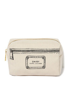 MARC JACOBS FRAGRANCES COMPLIMENTARY COSMETIC POUCH (BEIGE)