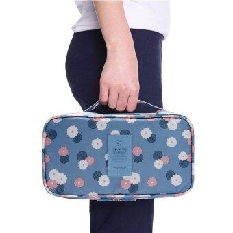 niceEshop Fashion Portable Multi Functional Travel OrganizerStorage Bag Panties Bra Storage Box Cosmetic Make-up Bag