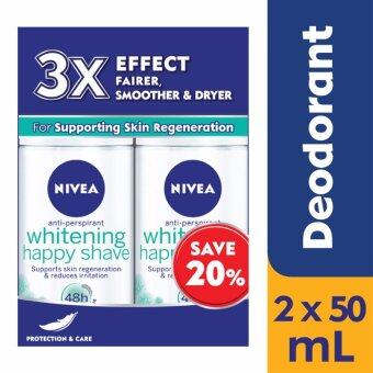 Nivea Happy Shave Female Roll-On Twinpack @ 20% off 2 x 50ml