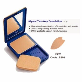 ORIGINAL COSWAY MIYAMI TWO WAY FOUNDATION CAKE MIAMI CODE 01 LIGHT