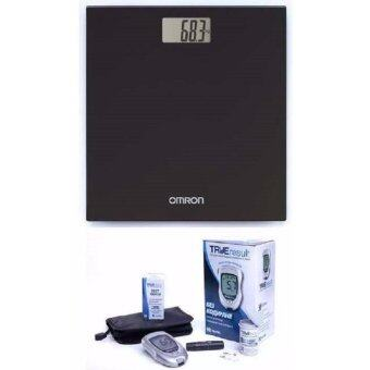 (Original) Omron Digital Body Weighing Weight Scale HN289 Black +Nipro LIFETIME WARRANTY Blood Glucose Meter Monitor Complete Set(50s Strips)