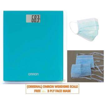 (Original) Omron Digital Body Weighing Weight Scale HN289 Ocean Blue Warranty 1 Year FREE 10'S FACE MASK