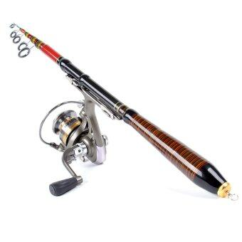 1.2M 3.94FT Telescopic Fishing Rod Travel Spinning Lure Rod RaftPole Carbon Fiber
