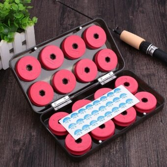 16Pcs Foam Winding Board Fishing Line Shaft Bobbin Spools TackleTools with Box