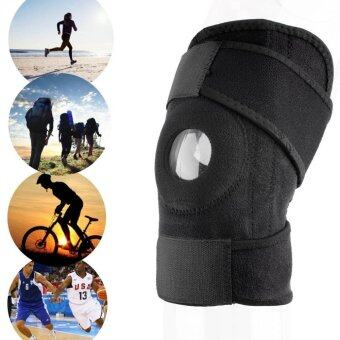 2pcs Adjustable Sports Training Elastic Knee Support Brace KneepadAdjustable Patella Knee Pads Hole Kneepad Safety Guard Strap