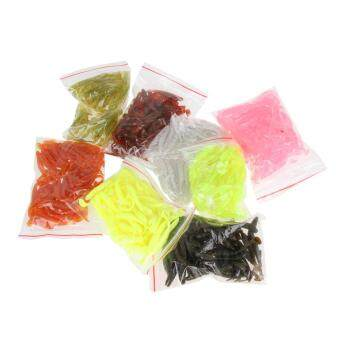 50pcs 80mm/2g Soft Lures Artificial Loach Fishing Bait Swimbait Worm Tackle