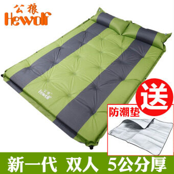 5cm outdoor double widened camping moisture proof pad inflatable Coaster