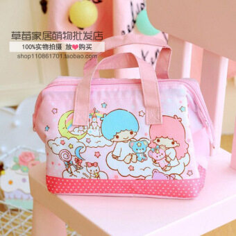 Cartoon Twin Star Oxford Cloth lunch bag aluminum foil Portable Bagstudent insulation bag ice pack lunch bag